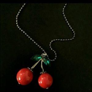 Set of 12 Cherry Necklaces